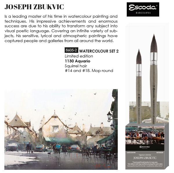 Escoda Zbukvic joseph-set of 2Brushes